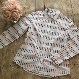 Boden Big Ben Print Classic Fit Shirt US Size 6